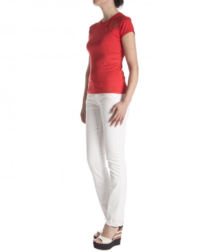 Lace bodice t-shirt