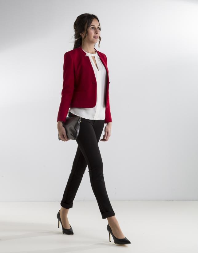 Short red jacket