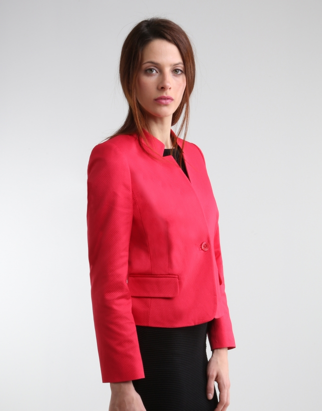 blazer court rouge trenchs et vestes femme roberto verino. Black Bedroom Furniture Sets. Home Design Ideas
