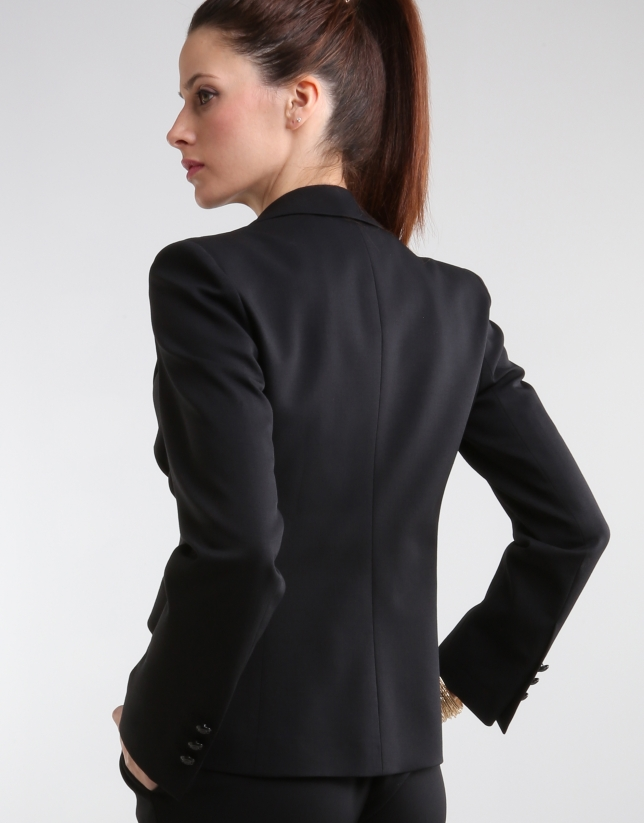 Black blazer with satin lapels
