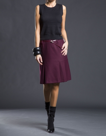 Micro-design pleated skirt