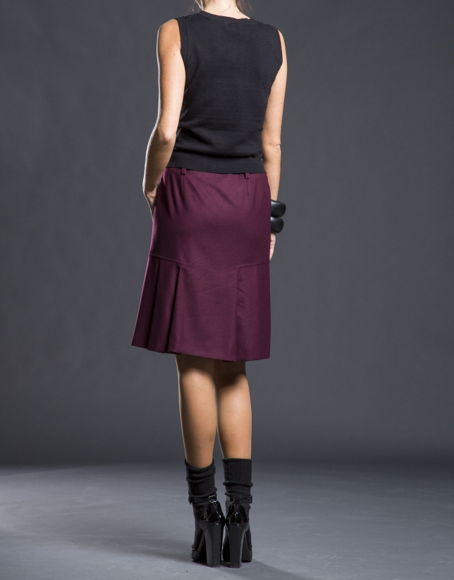 Micro-design pleated skirt