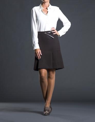 Brown pleated skirt