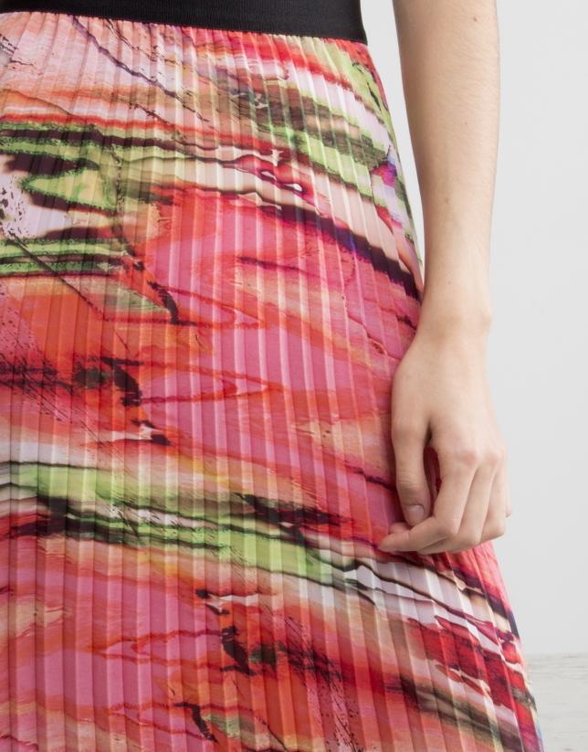 Long pleated skirt