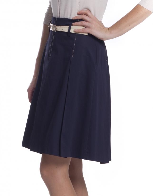 Full skirt in blue