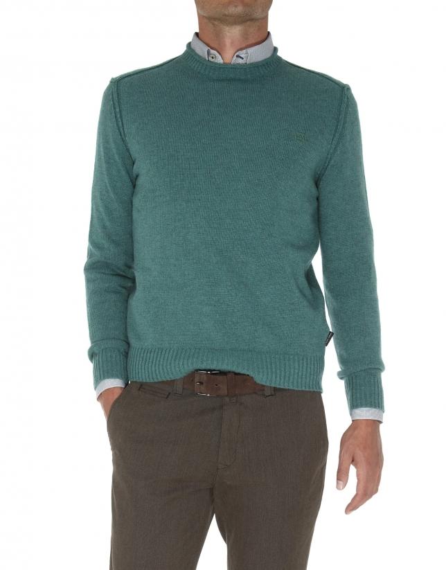 Square neck sweater