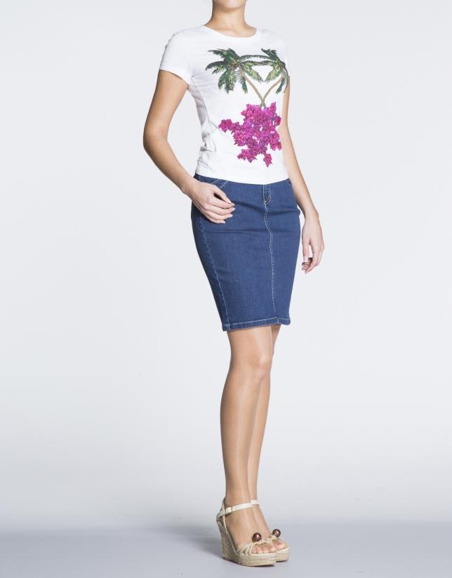 Straight jeans skirt