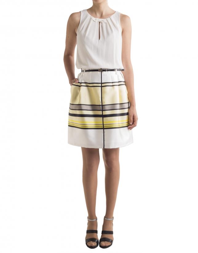 Falda rayas amarillas