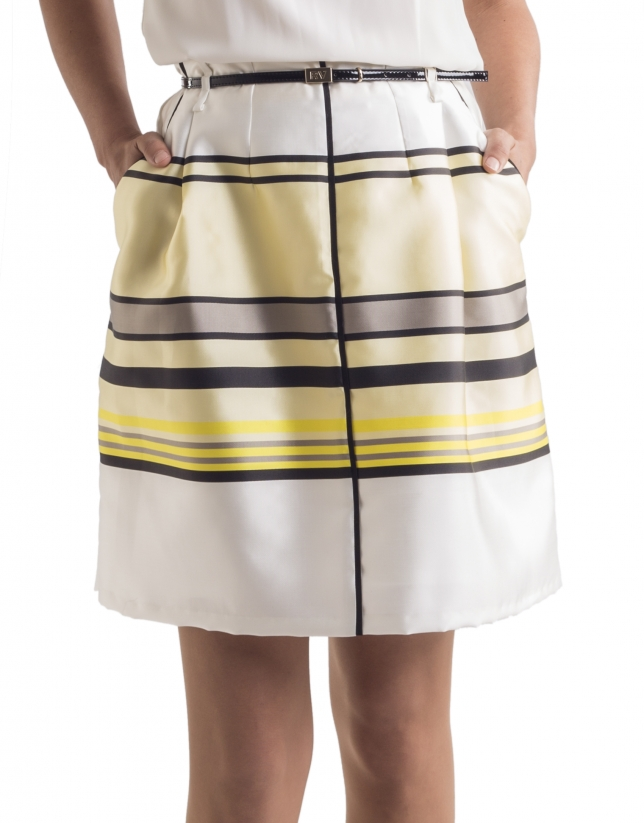 Yellow striped skirt