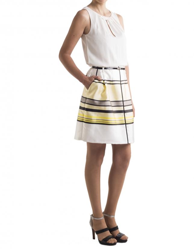 Yellow striped skirt