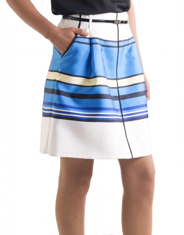 Falda rayas azules