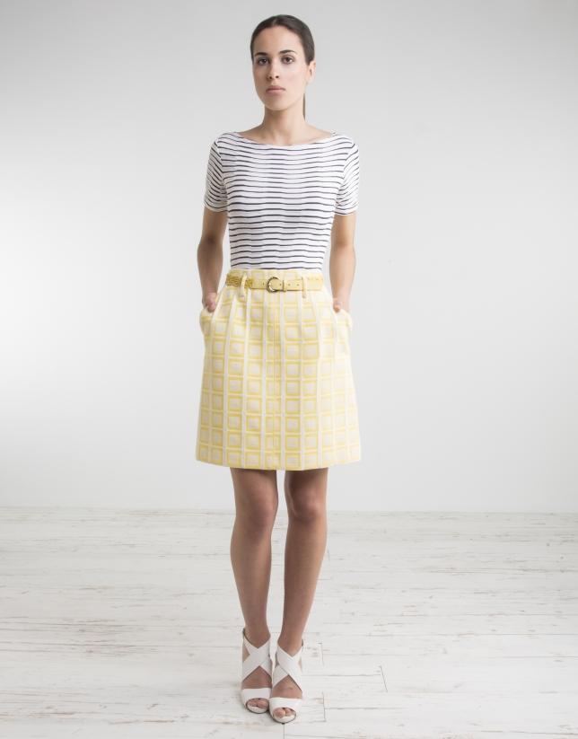 Yellow checked skirt