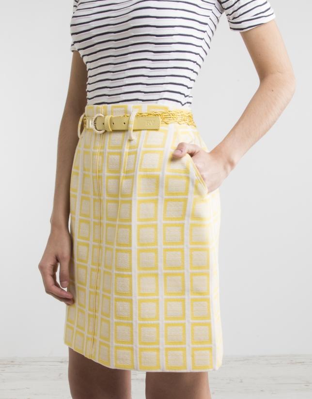 Jupe jaune à carreaux
