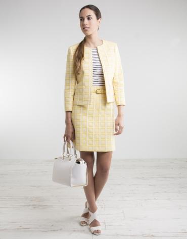 Falda cuadros amarilla