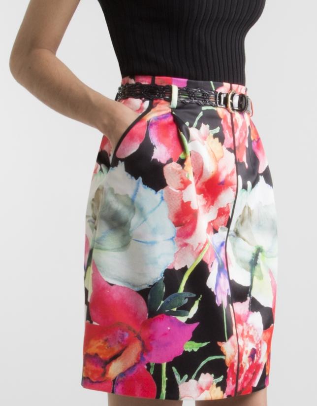 Jupe à motif floral
