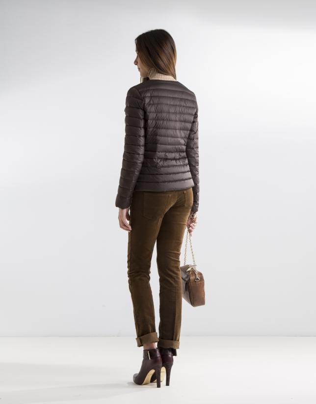 Short brown anorak
