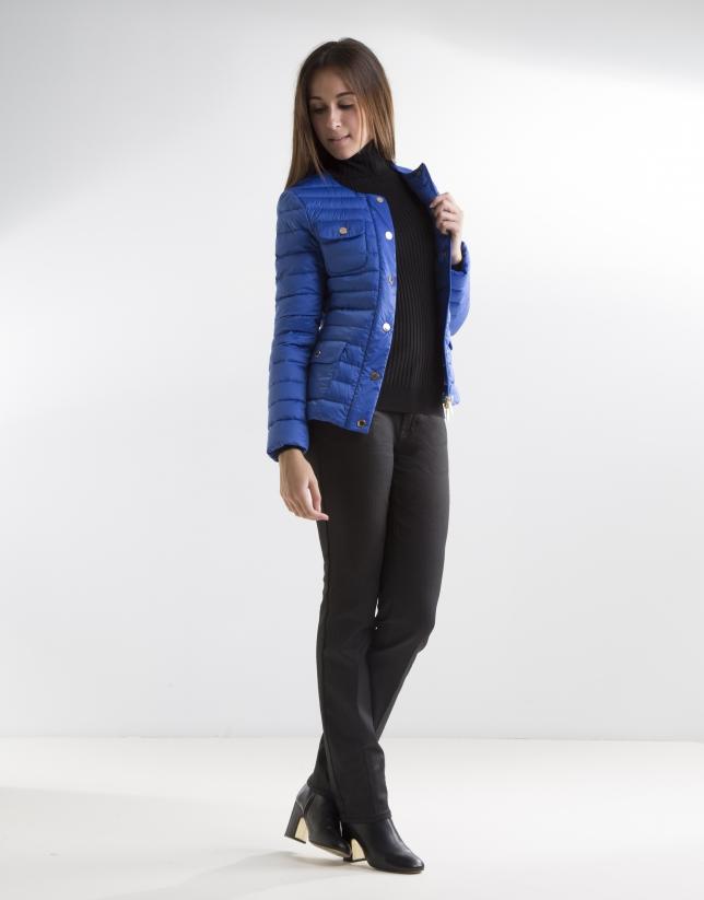 Short blue anorak