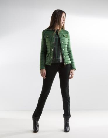 Short green anorak