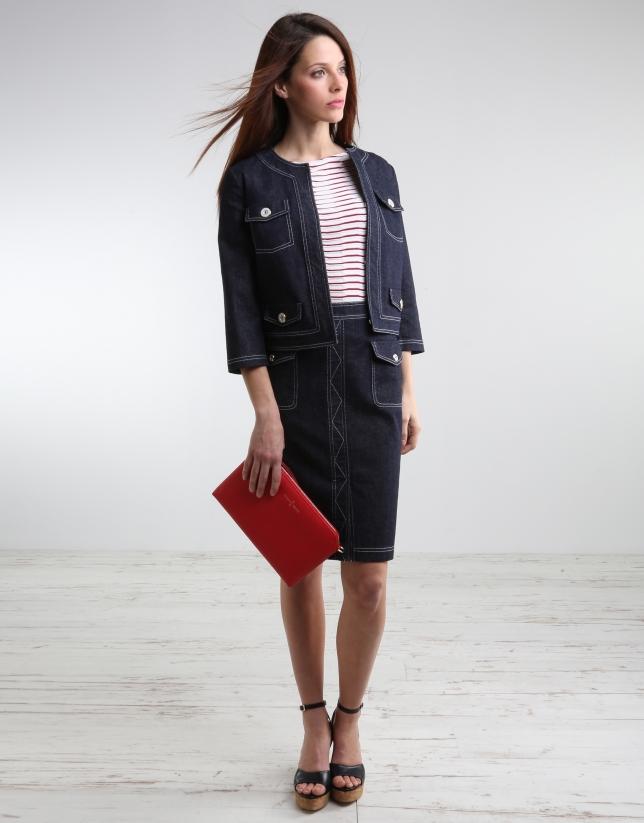 Short denim jacket