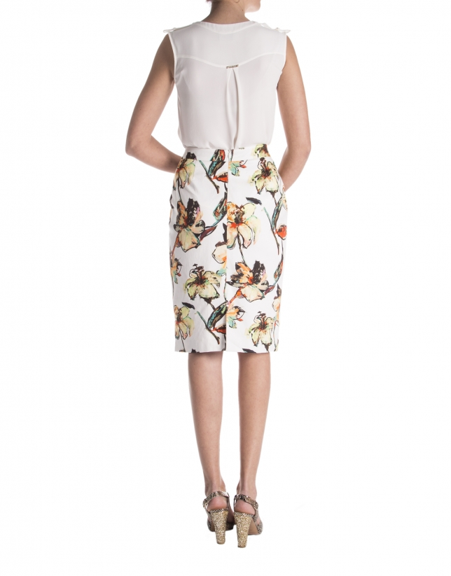 Falda estampada floral