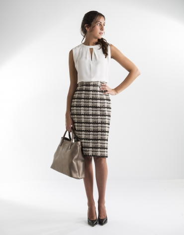 Black and gray jacquard skirt