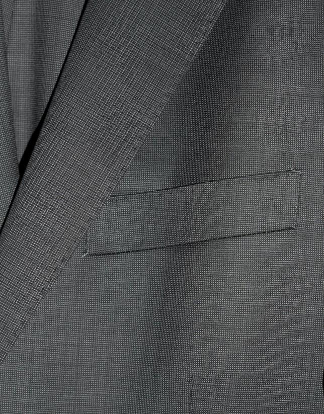 Traje clásico lana puntillé marrón