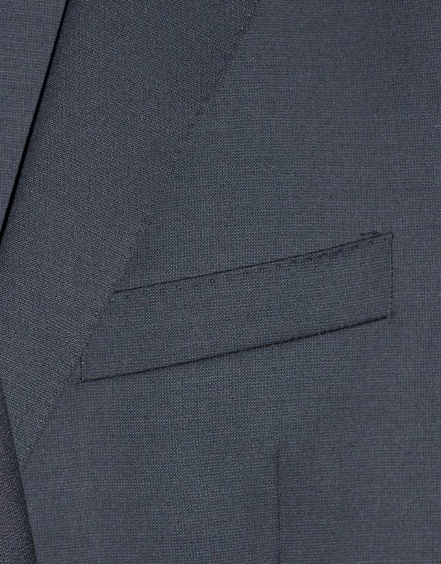 Traje clásico lana microdibujo azul marinola