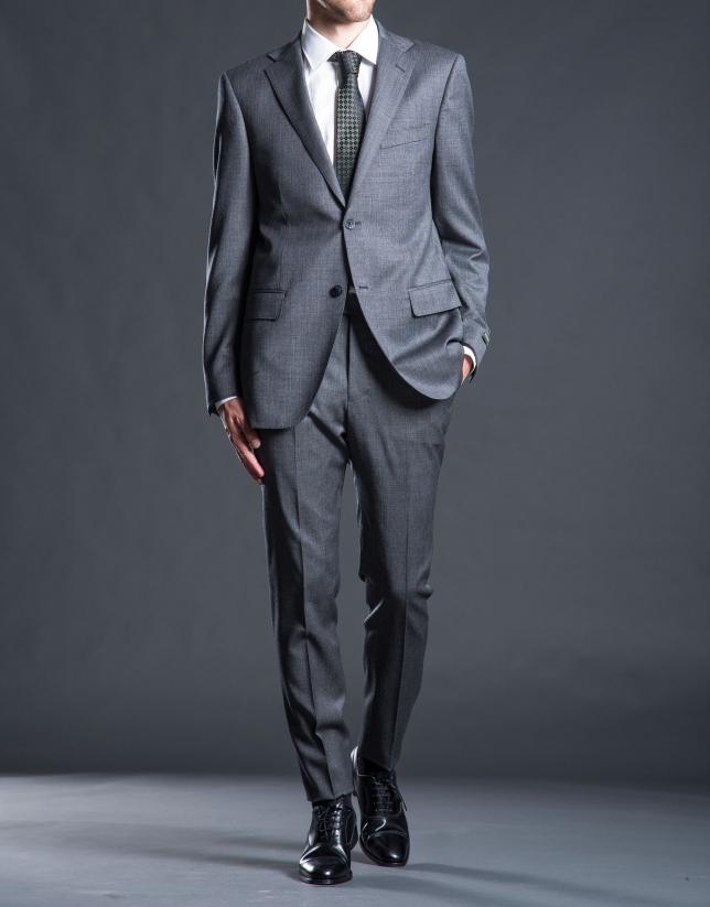 Regular fit, gray micro-print suit