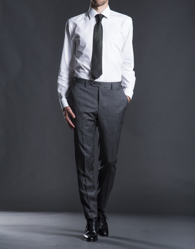 Regular fit, gray micro-print suit