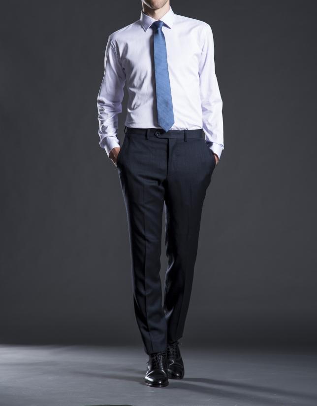 Regular fit, blue micro-print suit