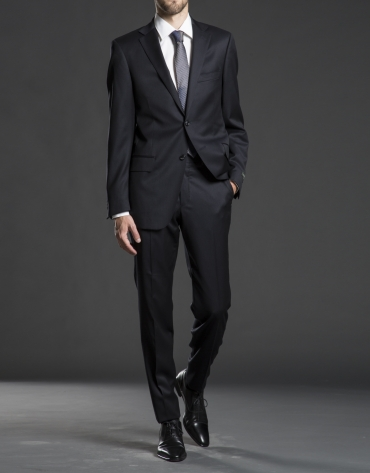 Regular fit, gray striped suit