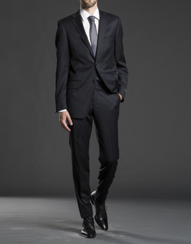 Regular fit, blue striped suit