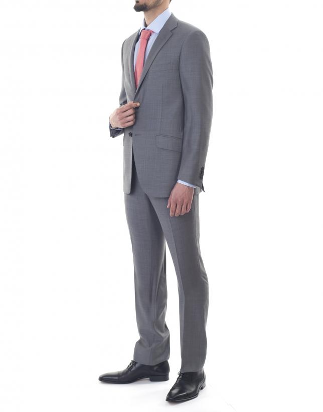 Gray microprint suit