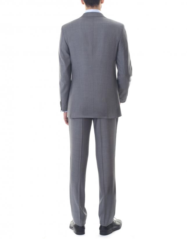 Veste costume grise à micromotifs