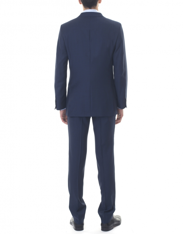 Veste costume bleu marine à micromotifs