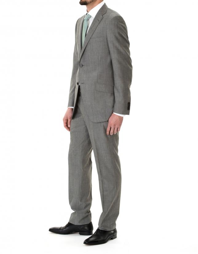 Veste costume unie grise.