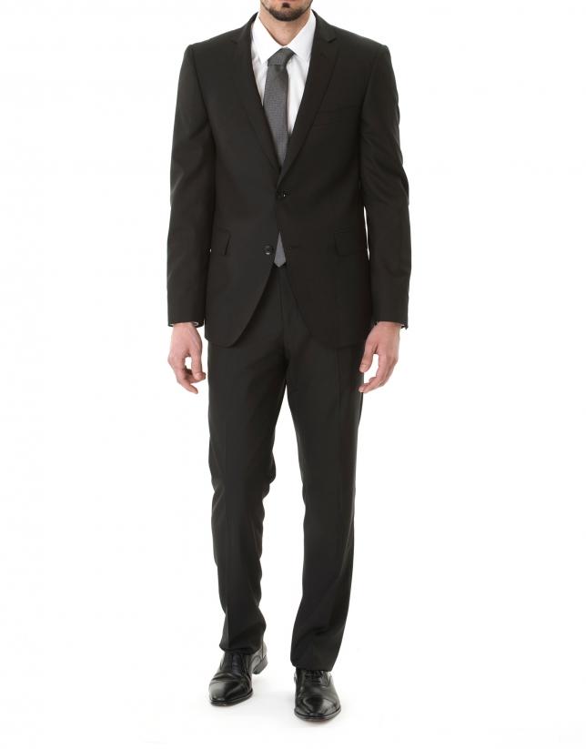 Plain black suit