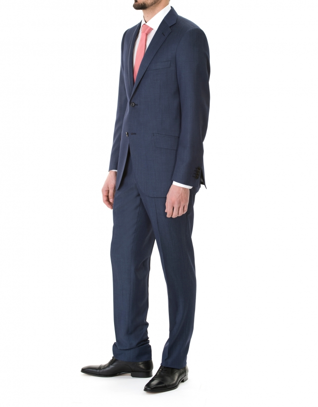 Blue striped suit