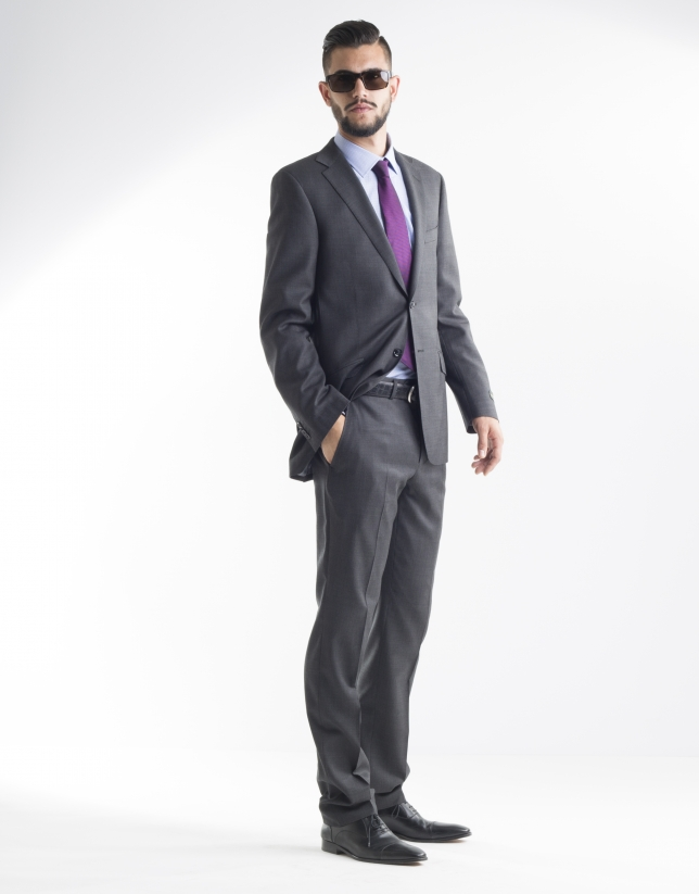 Dark grey microprint suit