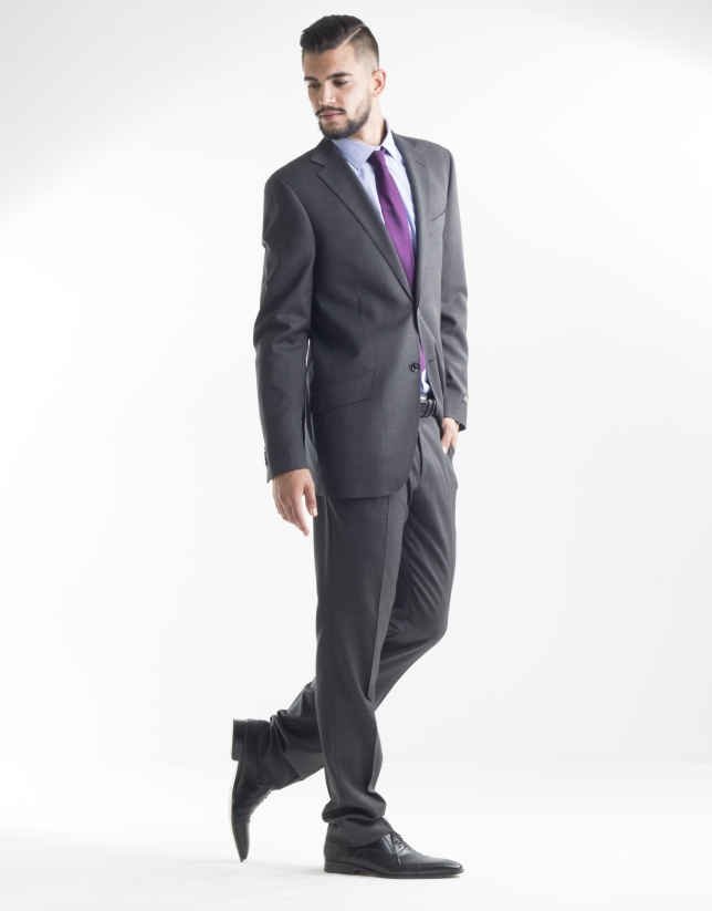 Costume gris fonc micromotifs homme roberto verino - Costume gris fonce ...