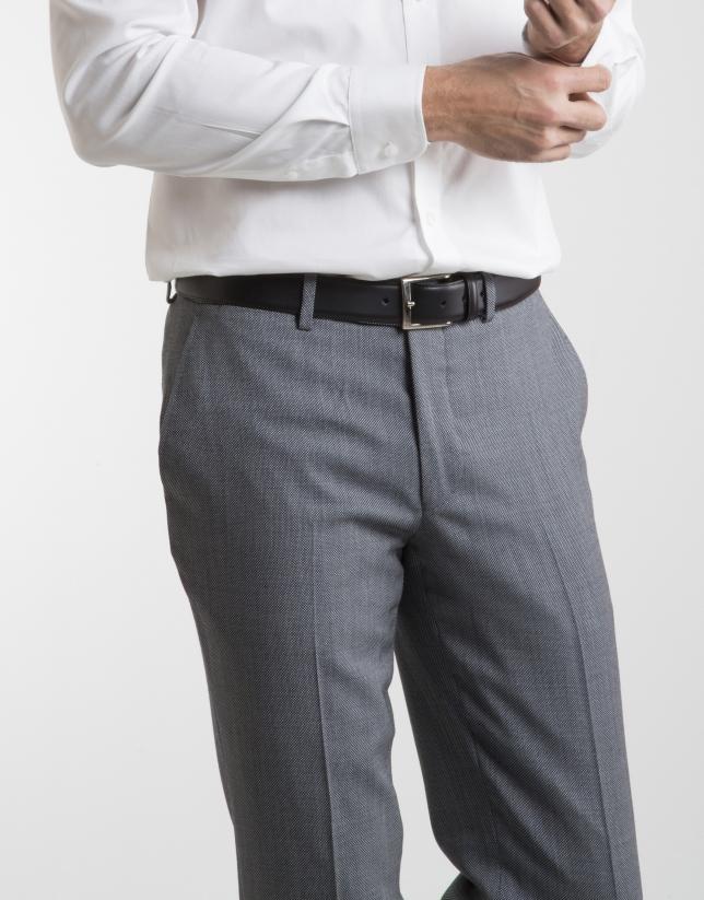 Gray half canvas regular fit suit