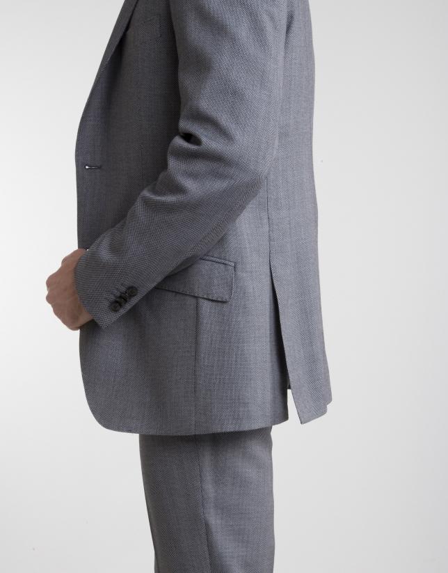 Veste de costume regular fit (coupe classique) semi-entoilée grise