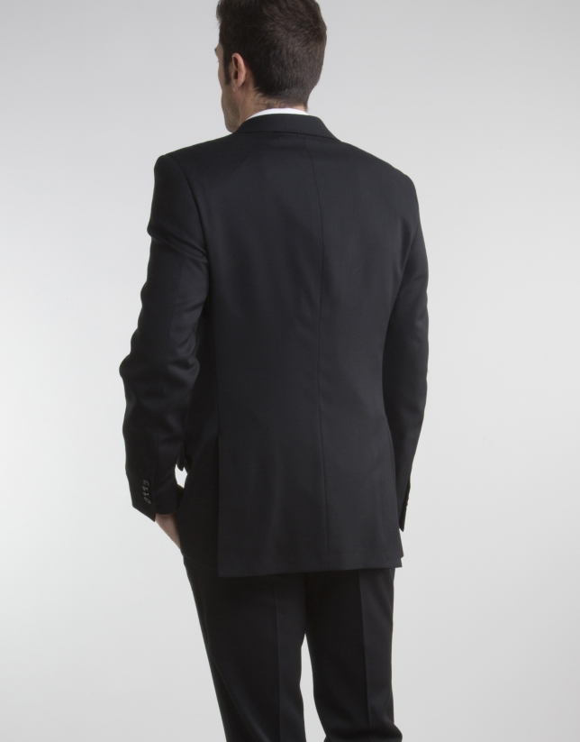 Veste de costume regular fit (coupe classique) structurée noire