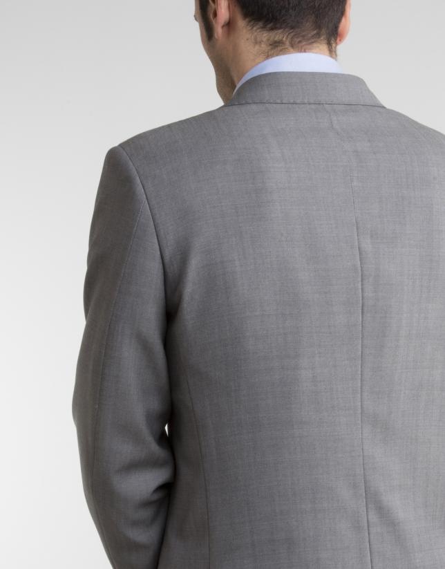Veste de costume regular fit (coupe classique) structurée grise