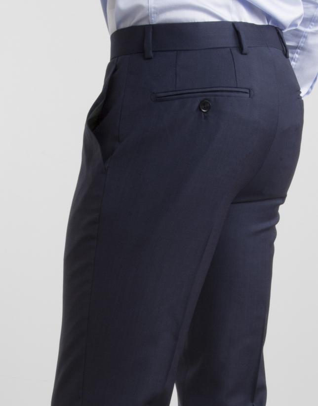 Navy blue regular fit suit