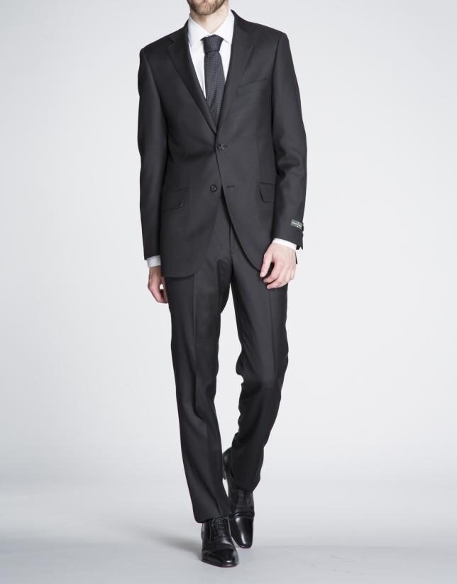 Black microprint suit