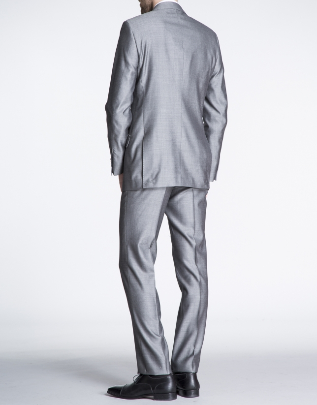 Brown microprint suit