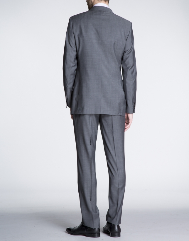 Grey twill suit