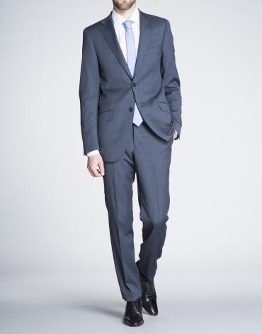 Blue microprint suit
