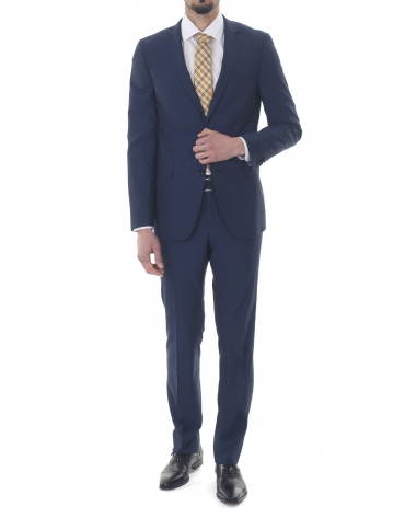 Plain blue slim fit suit